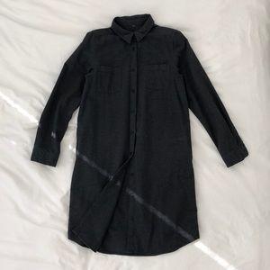 Muji organic cotton flannel tunic shirt dress, S